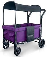 Wonderfold W1 One step Fold Unfold Double Seat Twin Stroller Wagon Cobalt Violet