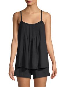 Hanro JULIET 77749 Black Cotton Knit Short Pajama Set - XS