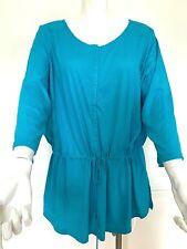 BNWT Ladies Ralph Lauren turquoise cotton drawstring plus size top,size 3XL