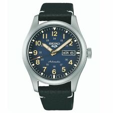 Seiko 5 Sports Field Collection Automatic Blue Dial Leather Men's Watch SRPG39K1