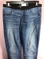 Helmut Lang Size 27 Jeans Denim Dark Wash Pull On Elastic Waist Skinny Slim ZK22