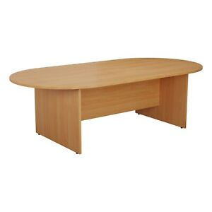 RZ D-End Meeting Boardroom Office Table Beech