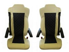 Seat Cover Leatherette Fabric Mercedes Actros MP4 2Pneumatics Black Beige