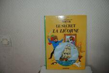 Libro Bd Avventure Tintin il Segreto Della Unicorno Casterman Herge come Nuovo