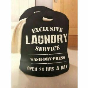 Large Laundry Bag Hamper With Handles Washing Bag Clothes Storage Bin Basket
