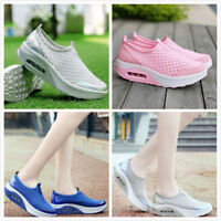 Women's Mesh Casual Sports Shoes Fitness Breathable Walking Trainers Sneakers SZ