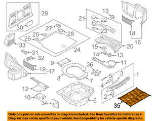 AUDI OEM 04-17 A8 Quattro Interior-Rear-Cargo Net 4E086186901C