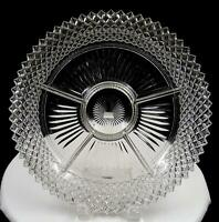 """ANCHOR HOCKING CLEAR MISS AMERICA FIVE PART 11 3/4"""" RELISH DISH 1935 - 1938"""