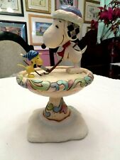 """Rare Jim Shore Snoopy & Woodstock Playing Ice Hockey """" Friendly Face-Off """" New"""