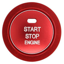 Red Engine Start Stop Button Cover w/ Ring  with tape for Toyota Camry 2018-2020