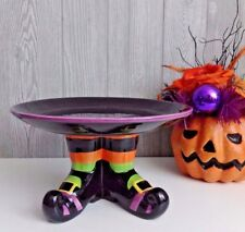 NEW Witch Legs Shoes Candy Cookie Treat Stand Plate