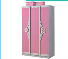 kids Pink and white wardrobe girls 3 tier  3D wardrobe
