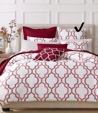 1-Charter Club Bedding Damask Designs Euro Pillow Sham Geo Garnet