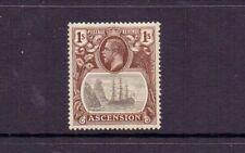 ASCENSION 1924 GV 1/- BADGE SG18 LMM CAT £21