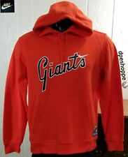 MLB San Francisco Giants Baseball Nike Graphic Script Cooperstown Hoodie Sz L