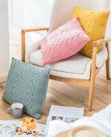 Gift Knitted Herringbone Chevrons Cushion Covers Home Decor Throw Pillow Case