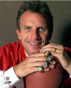 JOE MONTANA Super Bowl Rings 8X10 PHOTO SAN FRANCISCO 49ERS