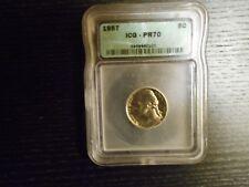 1957 PR70 Jefferson Nickel PROOF 5c - by ICG (High PCGS Book $)