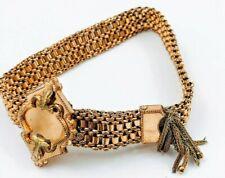 Antique Victorian Gold Filled Slide Tassel Bracelet 1800s Edwardian Art Nouveau