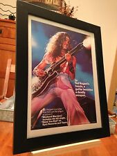 "FRAMED ORIGINAL TED NUGENT ""WEEKEND WARRIORS"" LP ALBUM CD PROMO AD + BONUS ADS!"