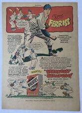 1947 Wheaties DAVE FERRISS cartoon ad ~ Boston Red Sox