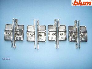 4 x pairs of Blum ZSF.170-02.01 Kitchen Drawer Front Fixing Brackets