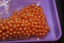 Fly Tying 4mm Orange acrylic pearl beads, 25