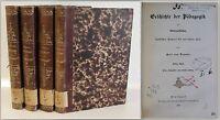 Raumer Geschichte der Pädagogik 4 Bände 1857 Erziehungswissenschaften xz