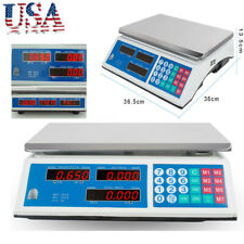 Digital Scale Price Computing Counting Weight Food Meat Produce Deli Market Usa