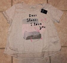 NWT Abercrombie Girls XL Dear Shoes I Love You Short Sleeve Top - LAST ONE!