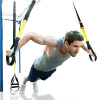 Resistance Bands Hanging Belt Sport Gym Workout Fitness Suspension Exercise Pull