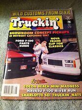 Truckin' Magazine August 1989 Volume 15 No  Wild Customs From Dixie