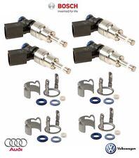 For Audi A3 4 TT VW GTI Jetta 2.0L Set of 4 Fuel Injectors Bosch+Seal Kit OES