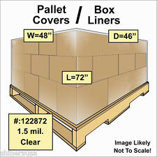 1.5 mil Pallet Covers / Bin Box Gaylord Liners 48x46x72 Clear Roll/75 122872