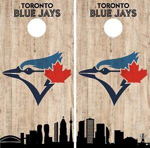 Toronto Blue Jays Cornhole Wrap MLB Game City Skyline Skin Vinyl Decal CO940