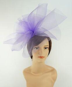New Church Derby Wedding Fascinator Dress Hat with Headband FS-02 Lilac