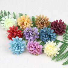 "50/100Pcs Artificial Silk Floral Flowers Heads 2"" Fake Mini Hydrangea DIY Crafts"