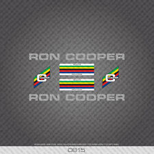 0815 Ron Cooper Bicycle Stickers - Decals - Transfers - Silver