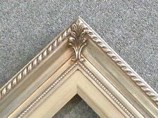 """3.25"""" Silver Wood Antique Picture Frame photo art gallery 24""""x36"""" 296S"""