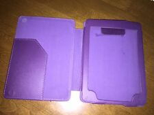 Amazon Kindle Purple Display Slim Leather Case Magnet Closure Cover - Ships Fast