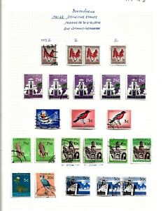 SOUTH AFRICA (A7-44) 1966-TO FEB 1970 RUN OF COMMEMORATIVES 12 SETS IN PAIRS MM