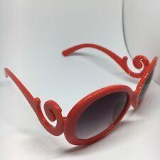 Inspirado diseñador Barroco Remolino Círculo Gafas De Sol Para Hombre Mujer Unisex Rojo