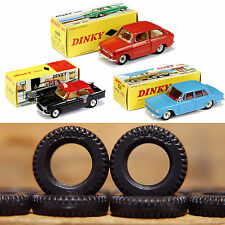 """DINKY TOYS TYRES x 10 - 15mm Black Treaded """"Dunlop"""" for 50's/60's French Dinky"""