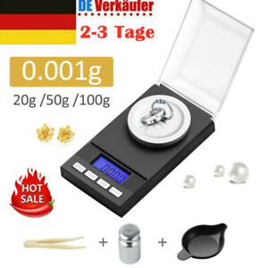 Digitale Taschenwaage 50g/0.001g Feinwaage Milligramm Schmuckwaage Briefwaage