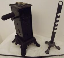 antique french rotisserie barbecue clockwork system jack roaspit pin rotate FUF