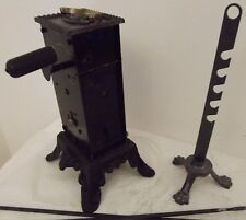 antique italian rotisserie barbecue clockwork system jack roaspit pin rotate FUF
