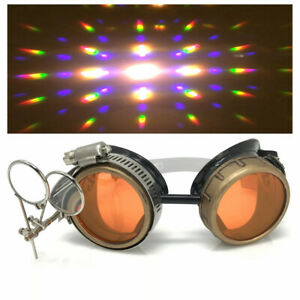 Diffraction Kaleidoscope rave glasses Steampunk goggles cosplay burning man