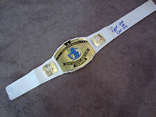RAZOR RAMON Autographed SIGNED WWE Intercontinental Title Belt New w/COA PROOF
