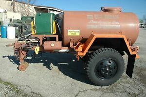 trailer, water buffalo 400gal. M149A2 w/ Pump