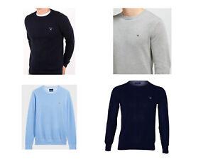 GANT Herren Basic Longsleeve Shirt Pulli Pullover Schwarz Blau Grau S M L XL XXL